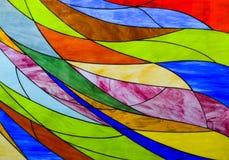 De achtergrond van het gebrandschilderd glas Royalty-vrije Stock Foto's