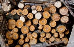 De achtergrond van het gehakte hout stock foto