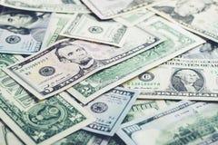 De Achtergrond van het geld Amerikaanse dollars royalty-vrije stock foto's