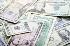 De Achtergrond van het geld Amerikaanse dollars stock afbeelding