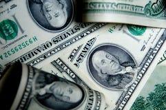 De achtergrond van het geld van honderd dollars Stock Foto