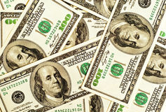 De achtergrond van het gelddollars van de close-up Stock Fotografie