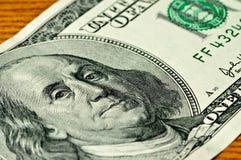 De achtergrond van het gelddollars van de close-up Royalty-vrije Stock Afbeelding