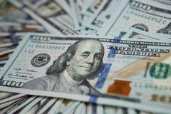 de achtergrond van het gelddollars van het conceptenclose-up Stock Fotografie