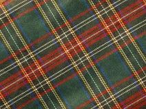 De achtergrond van het geruite Schotse wollen stof Stock Foto