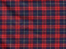 De achtergrond van het geruite Schotse wollen stof Stock Afbeelding