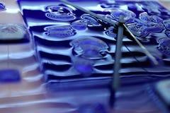 De achtergrond van het glas Stock Foto's