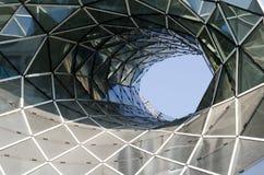 De achtergrond van het glaspatroon Stock Afbeeldingen