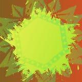 De achtergrond van het Grungepenseel over uitstekend bloemenornament De oude stijl van de malplaatjeachtergrond Kleurrijke verfte Stock Foto