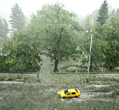 De Achtergrond van het hagelonweer Stock Afbeelding