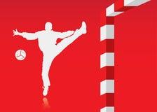 De achtergrond van het handbal Royalty-vrije Stock Afbeeldingen