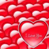De Achtergrond van het hart Royalty-vrije Stock Afbeeldingen