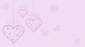 De achtergrond van het hart Stock Fotografie