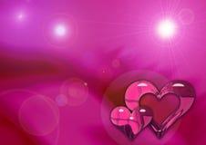 De achtergrond van het hart Stock Foto