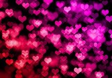 De achtergrond van het hart bokeh Royalty-vrije Stock Afbeelding