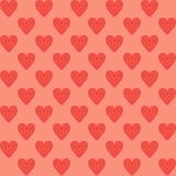 De achtergrond van het hart Seamlespatroon Royalty-vrije Stock Foto