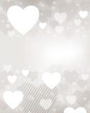 De Achtergrond van het Hart van de valentijnskaart Stock Foto