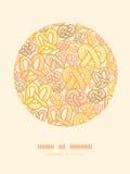 De achtergrond van het het decorpatroon van de pretzelscirkel stock illustratie
