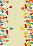 De achtergrond van het het menuontwerp van de cocktail Stock Afbeelding