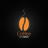 De achtergrond van het het ontwerpmenu van de koffieboon stock illustratie