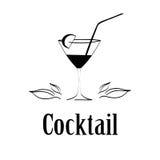 De achtergrond van het het ontwerpmenu van het cocktailglas Stock Foto's