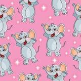 De achtergrond van het het patroonbehang van olifantsjonge geitjes in Royalty-vrije Stock Foto