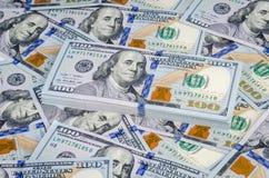 De achtergrond van het honderd dollar rekeningenpapiergeld Royalty-vrije Stock Foto's