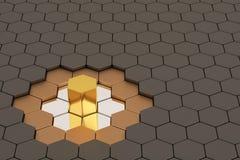 De achtergrond van het honingraatmetaal, 3D illustratie Royalty-vrije Stock Afbeelding