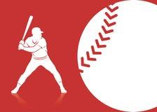 De achtergrond van het honkbal stock illustratie
