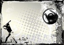 De achtergrond van het honkbal grunge royalty-vrije illustratie