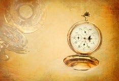 De achtergrond van het horloge Stock Afbeeldingen