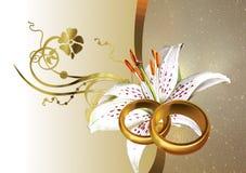 De achtergrond van het huwelijk royalty-vrije illustratie