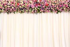 De achtergrond van het huwelijk stock foto
