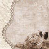 De achtergrond van het huwelijk Stock Afbeeldingen