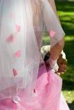 De achtergrond van het huwelijk Stock Fotografie