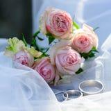De achtergrond van het huwelijk Huwelijkselement, decoratie voor de ceremonie Royalty-vrije Stock Foto's