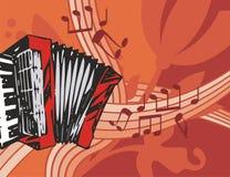 De Achtergrond van het Instrument van de muziek Stock Foto