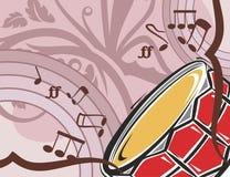De Achtergrond van het Instrument van de muziek Stock Afbeelding