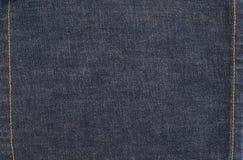 De Achtergrond van het jeansdenim met Steken Royalty-vrije Stock Foto's