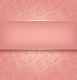 De achtergrond van het kant, roze Stock Afbeelding