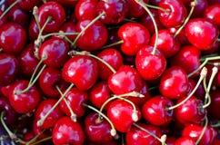De achtergrond van het kersenfruit Stock Foto