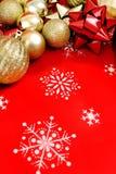 De achtergrond van het Kerstmisdecor Stock Foto