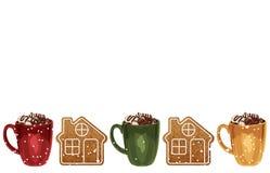 De achtergrond van het Kerstmiskader vector illustratie