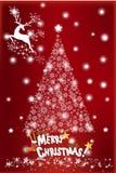 De achtergrond van het Kerstmislandschap met boom - illustratie eps10 Stock Afbeelding