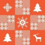 De achtergrond van het Kerstmislapwerk Royalty-vrije Stock Fotografie