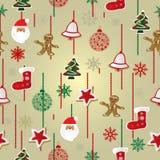 De achtergrond van het Kerstmispatroon Stock Afbeeldingen