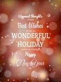 De achtergrond van het Kerstmisrode licht Eps 10 Royalty-vrije Stock Afbeelding