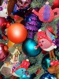 De achtergrond van het Kerstmisspeelgoed Stock Foto's