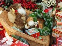 De achtergrond van het Kerstmisspeelgoed Stock Afbeeldingen