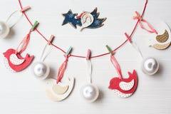 De achtergrond van het Kerstmisthema Royalty-vrije Stock Foto's